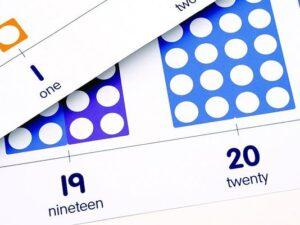številska premica 1-21 numicon