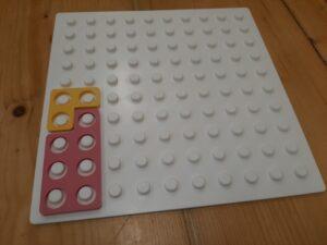 Numicon oblike na plošči